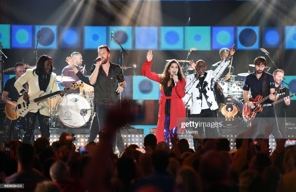 Earth, Wind & Fire and Lady Antebellum perform during the 2017 CMT Music Awards at the Music City Center on June 7, 2017 in Nashville, Tennessee.