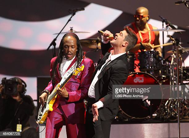 Earth Wind Fire and Robin Thicke perform during the THE GRAMMY NOMINATIONS CONCERT LIVE Ñ COUNTDOWN TO MUSIC'S BIGGEST NIGHT¨ broadcast Friday Dec 6...