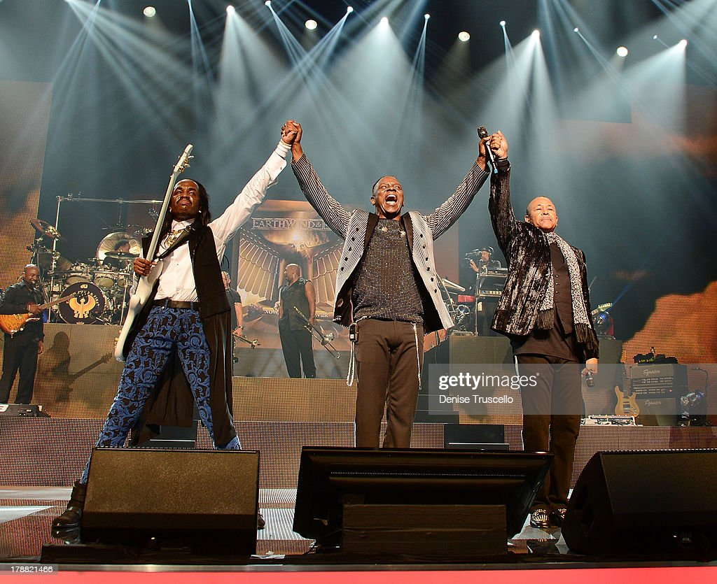 Earth, Wind & Fire performs during debut of new CD For HSN Live broadcast special at The Venetian Las Vegas on August 30, 2013 in Las Vegas, Nevada.