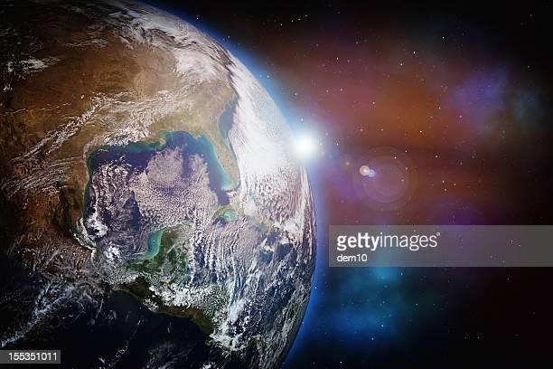 Erde mit Sternen