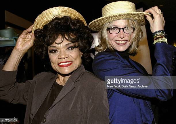 Eartha Kitt and daughter Kitt at opening night party for the Broadway show The Music Man at the Marriott Marquis Hotel