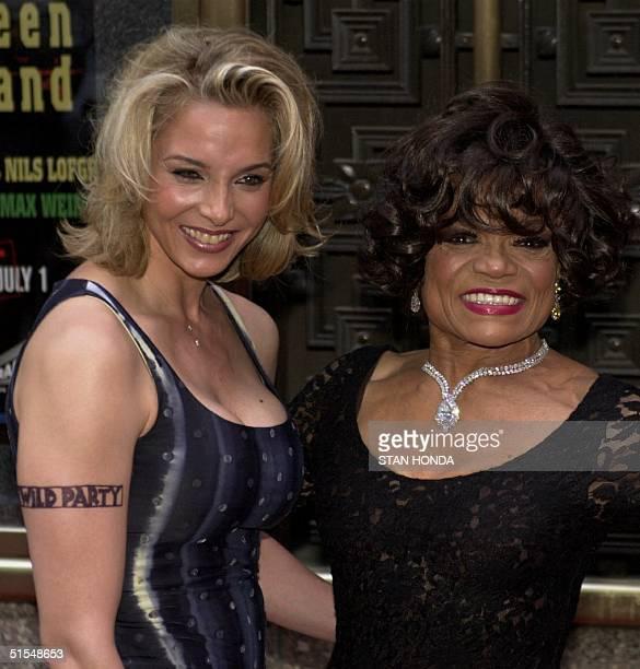 Eartha Kitt and her daughter Kitt Shapiro arrive at the Tony Awards ceremony 04 June at Radio City Music Hall in New York Eartha Kitt stars in the...