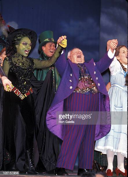 Eartha Kitt andMickey Rooney during Opening Night of 'The Wizard of Oz' at Madison Square Garden in New York City NY United States