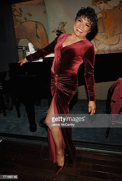 Eartha Kitt attends the cocktail party hosted by Mac Cosmetics and Zac Posen Honoring the inspiration behind Mac Cosmetics' new fall Collectionthe...