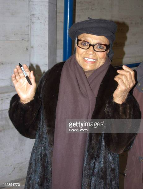 Eartha Kitt during Cast of 'Cinderella' Exiting New York State Theater November 14 2004 at NY State Theater Lincoln Center in New York City New York...