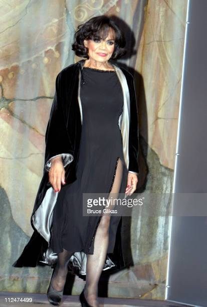 Eartha Kitt during John Stamos Joins the Cast of 'Nine' at The Eugene O'Neill Theatre in New York City New York United States