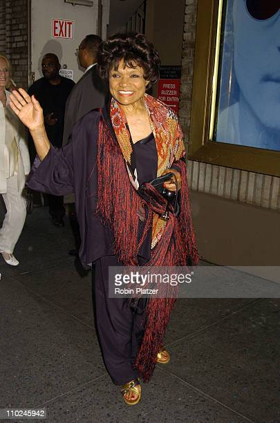 Eartha Kitt during 'Lennon' Broadway Opening Night Outside Arrivals at The Broadhurst Theatre in New York City New York United States