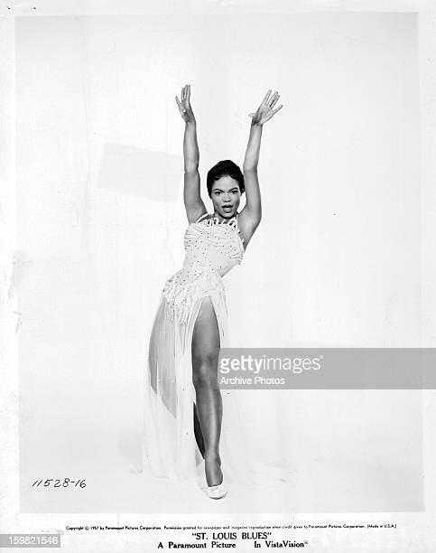 Eartha Kitt in a dance pose in a scene from the film 'St Louis Blues' 1957