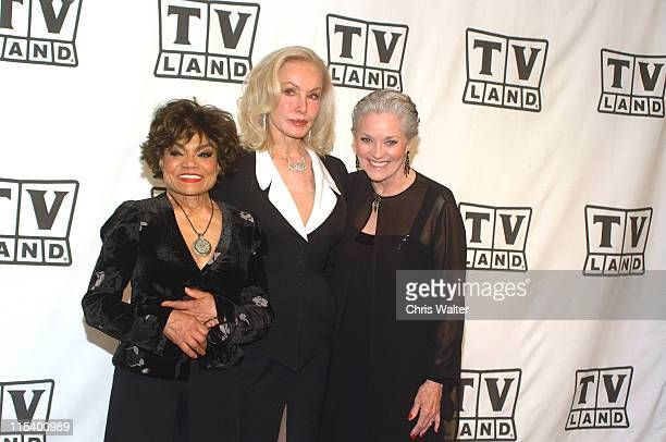 Eartha Kitt Julie Newmar and Lee Meriwether presenters of Viewer's Choice Award for Favorite Fashion Plate Female