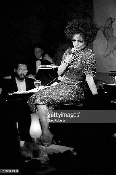 Eartha Kitt performing at the Cafe Carlyle in New York City on January 26 1994