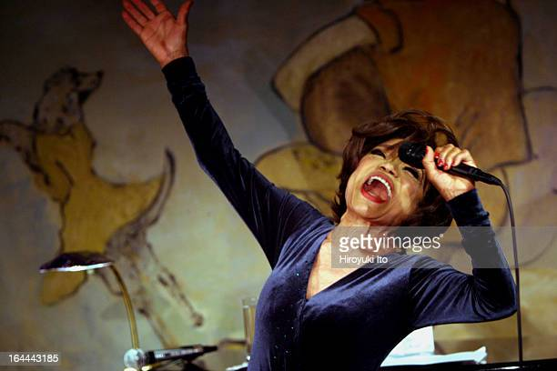 Eartha Kitt performing at the Cafe Carlyle on Wednesday night June 7 2006
