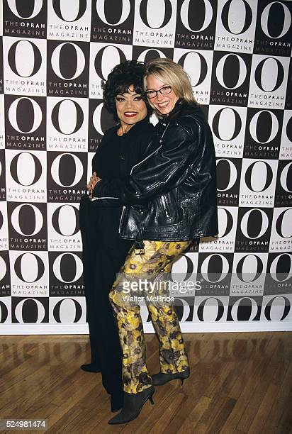 Eartha Kitt pictured with her daughter Kit Shapiro at O the oprah magazine launch party at the Metro Pavilion in New York City on April 17 2000
