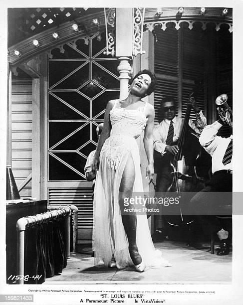 Eartha Kitt singing in a scene from the film 'St Louis Blues' 1957