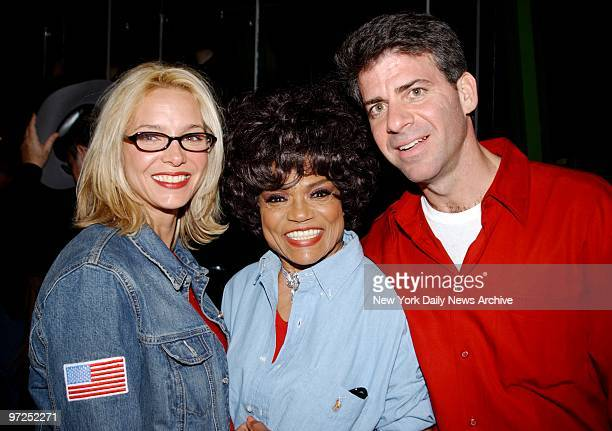Eartha Kitt with daughter Kitt Shapiro and future soninlaw Alan Rothschild are all smiles at the Denim and Diamonds Gala at Planet Hollywood...
