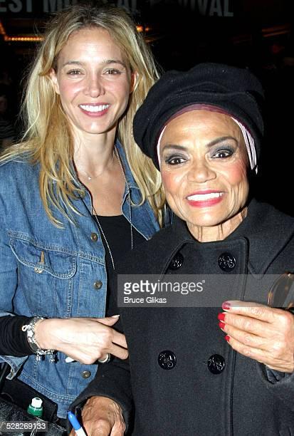 Eartha Kitt with her daughter Kitt Shapiro during John Stamos Joins the Cast of Nine at The Eugene O'Neill Theatre in New York City New York United...