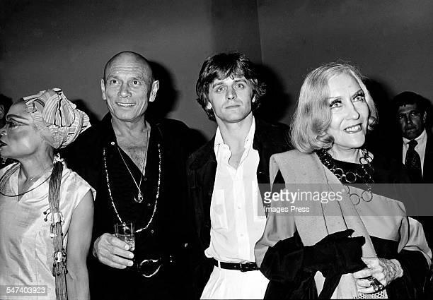 Eartha Kitt Yul Brynner Mikhail Baryshnikov and Gloria Swanson at Studio 54 circa 1978 in New York City