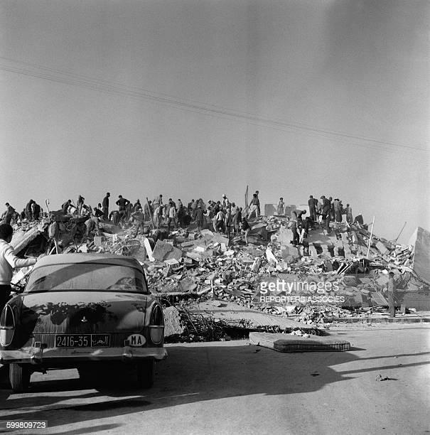 Earthquake Aftermath in Agadir Morocco in March 1960