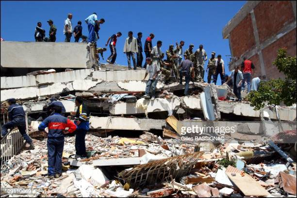Earthquake Aftermath In Boumerdes On May 23 2003 In Boumerdes Algeria