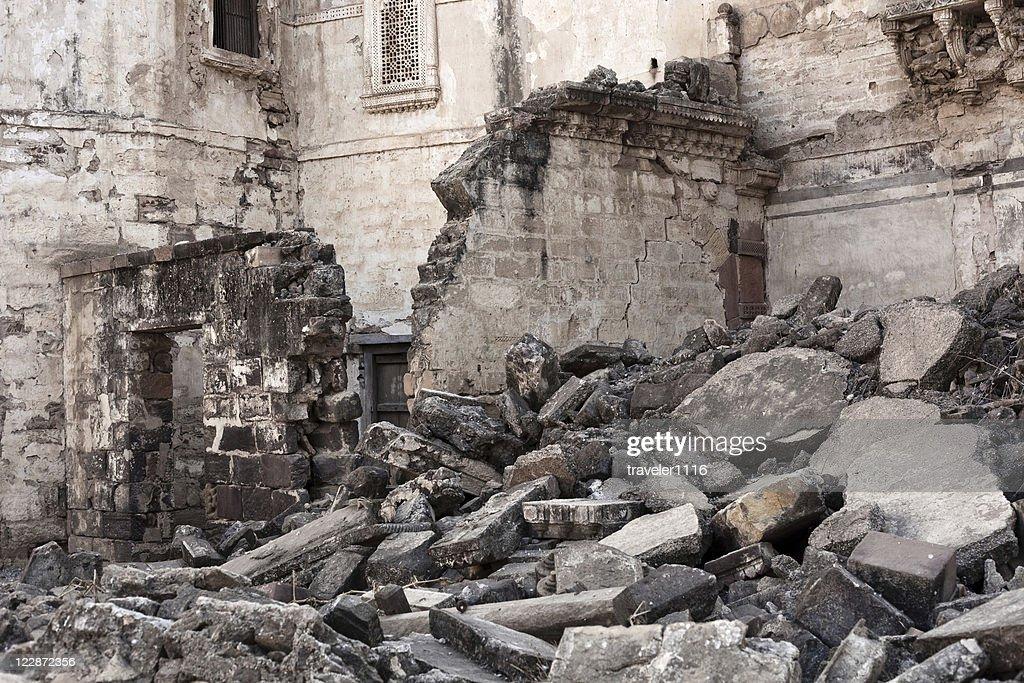 Earthquake Damage From Bhuj, India : Stock Photo