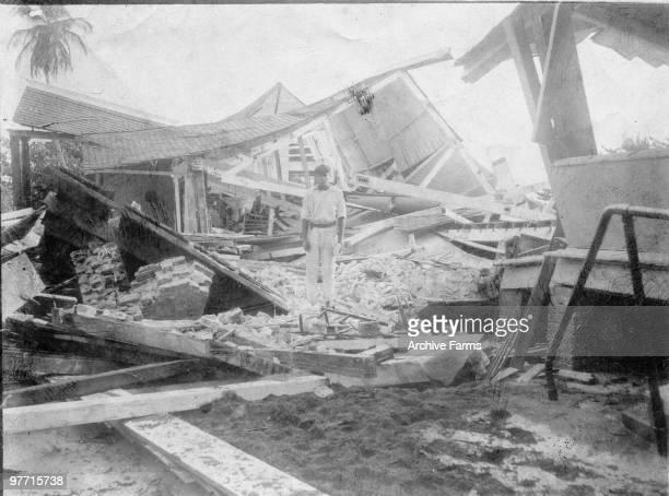 Earthquake damage Port Royal Jamaica