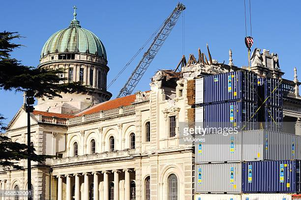Earthquake damaged Cathedral of the Blessed Sacrament, Christchurch