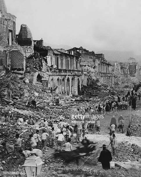 Earthquake Damages In Messina On 1908