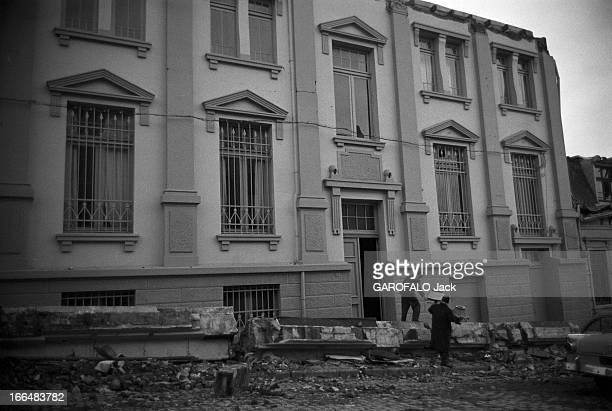 Earthquake In Chile Sud du Chili Valdivia 316 Juin 1960 Le séisme de Valdivia d'une magnitude supérieure à 8 créant un tsunami sur la côte pacifique...