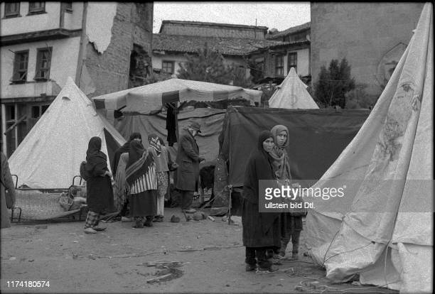Earthquake in Gediz and Emet Turkey 1970 emergency accommodation