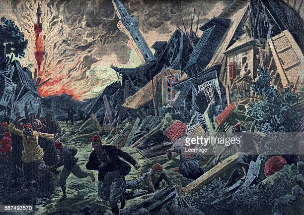 Earthquake in Turkey august 1912 Illustration from Le pelerin 18th august 1912 Private collection