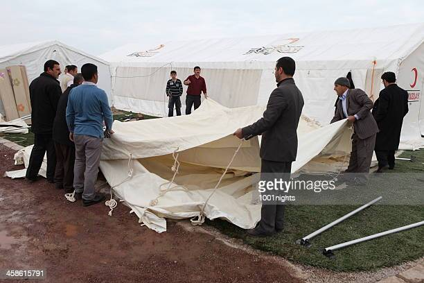 earthquake in van, turkey - turkish red crescent stock pictures, royalty-free photos & images