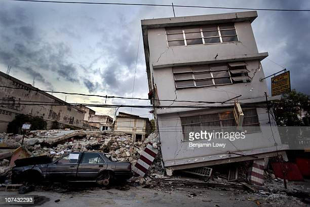 Earthquake ravaged downtown Port au Prince, Haiti. Haiti was struck by a magnitude 7 earthquake on January 12, 2010 which caused widespread...