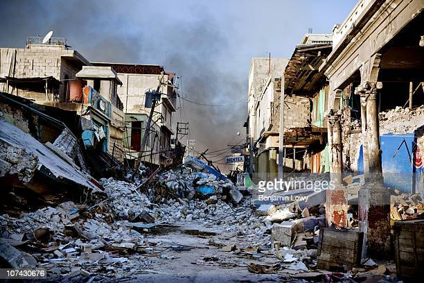 Earthquake ravaged downtown Port au Prince, Haiti. On January 12, 2010 Haiti was struck by a magnitude 7 earthquake which caused widespread...