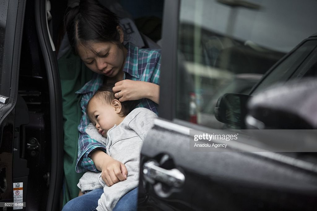 Earthquakes' aftermath in Japan : ニュース写真
