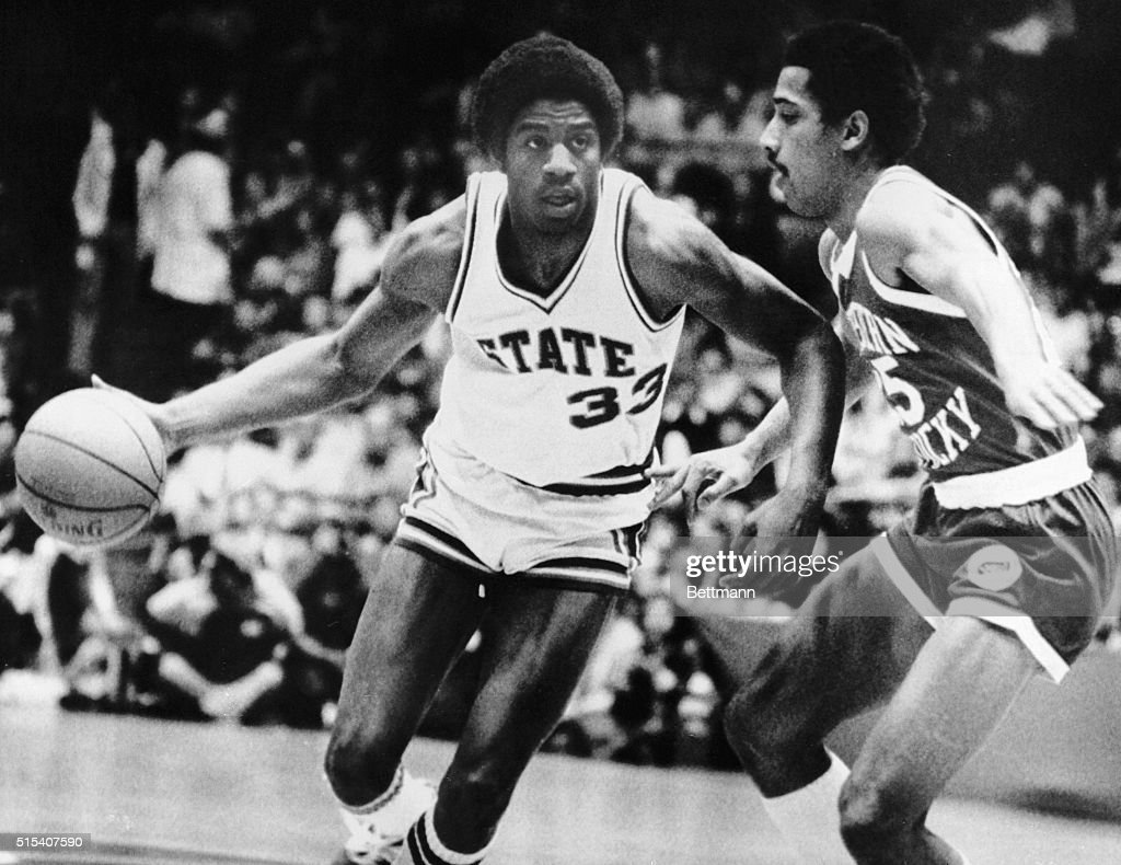 Magic Johnson in College Basketball Action : News Photo