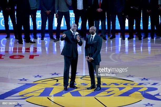 239 Kobe Bryant Magic Johnson Photos and Premium High Res Pictures ...