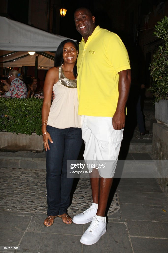 Magic Johnson On Holiday In Portofino