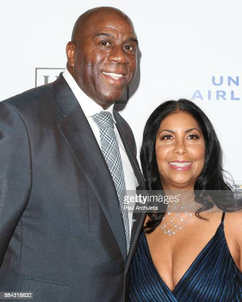 Earvin Magic Johnson and his Wife Earlitha Kelly attend Ebony Magazine's Ebony's Power 100 gala at The Beverly Hilton Hotel on December 1 2017 in...
