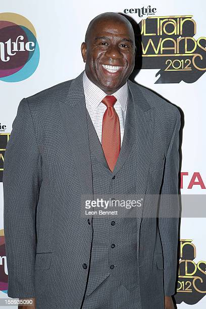 Earvin 'Magic' Johnson arrives at the Soul Train Awards 2012 at Planet Hollywood Casino Resort at on November 8 2012 in Las Vegas Nevada
