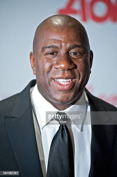 Earvin 'Magic' Johnson attends the 3rd Annual Common Ground Foundation Annual Gala And Fundraiser at Four Seasons Hotel on March 23 2013 in Chicago...