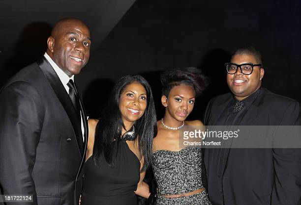 Earvin 'Magic' Johnson Jr his wife Cookie their daughter Elisa and son EJ attend 2013 Multicultural Gala An Evening Of Many Cultures at Metropolitan...