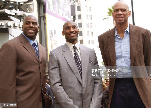Earvin Magic Johnson Kobe Bryant and Kareem AbdulJabbar