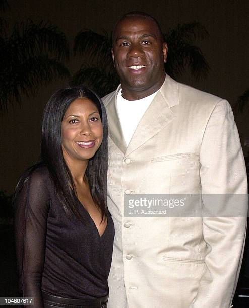 Earvin Magic Johnson Wife Cookie during Sunset Room Honoring Earvin Magic Johnson at Sunset Room in Hollywood California United States