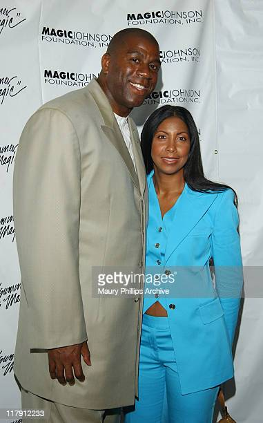 Earvin Magic Johnson wife Cookie Johnson during The 17th Annual A Midsummer Night's Comedy Slam at Dorothy Chandler Pavilion in Los Angeles...
