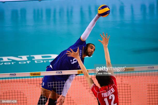 Earvin NGAPETH / Akihiro YAMAUCHI France / Japon Ligue Mondiale Photo Dave Winter / Icon Sport