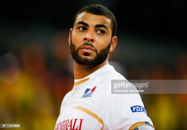 Earvin Ngapeth of France looks on during the gold medal match against Brazil at Arena da Baixada Stadium during day five of the FIVB World League...
