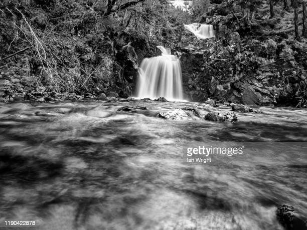 eas-chia aig waterall at loch arkaig, lochaber - moment of silence stock pictures, royalty-free photos & images