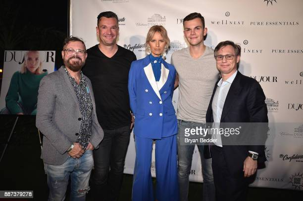 Easek Skala Martin Pos Karolina Kurkova Marin Pos Jr and Jason Binn attends DuJour's Jason Binn And WellNEST Celebrate Miami Beach's Art Basel...