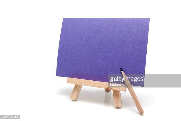 Easel isolated on white background