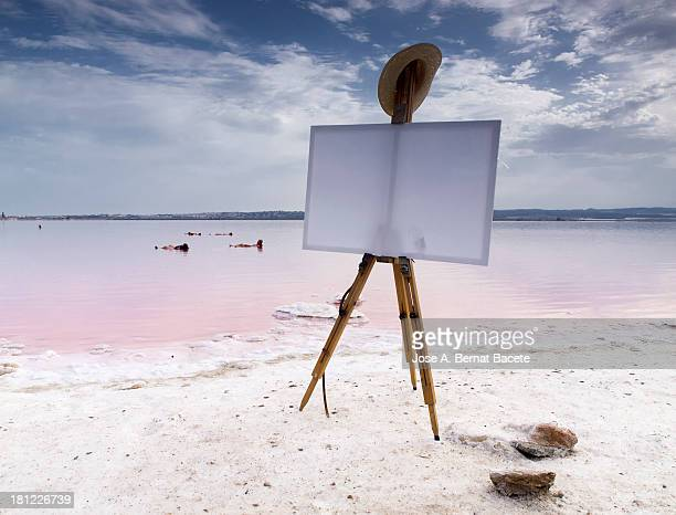 Easel on the beach