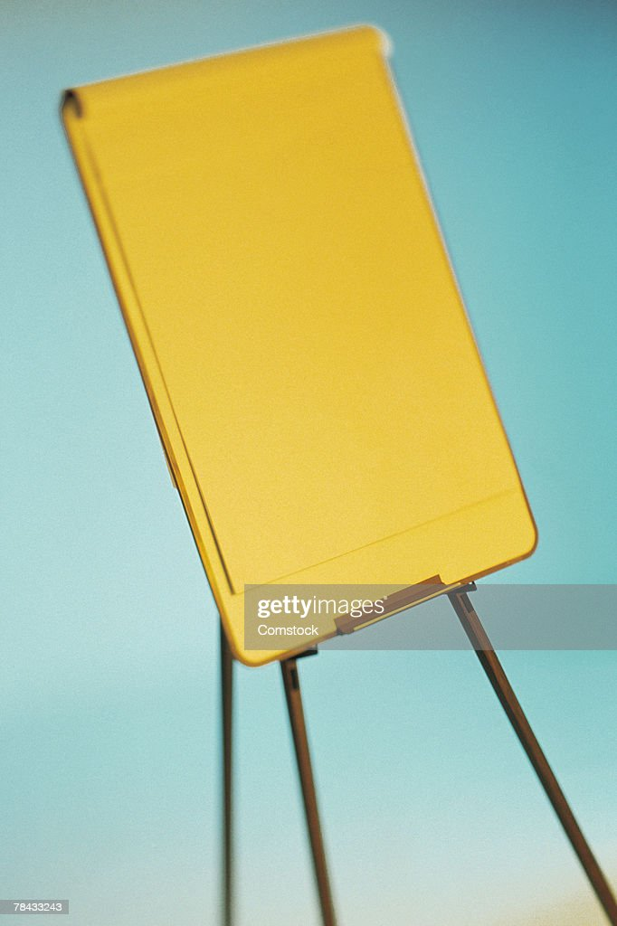 Easel with pad of paper : Stockfoto